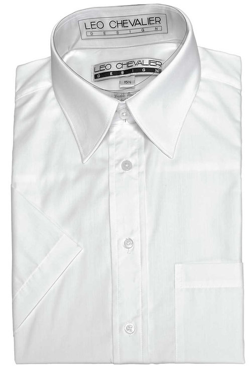 Plain Shade Wrinkle Resistant Traditional Spread Dress Shirt