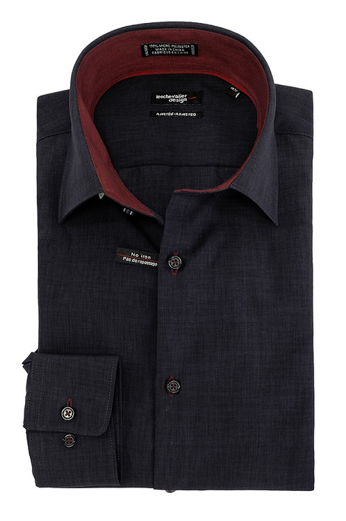 Fitted Micro Polyester Dress Shirt