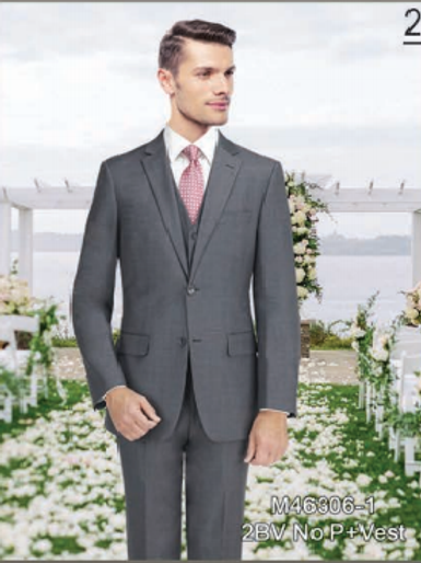 Solid Grey Suit Seperate 100% Wool