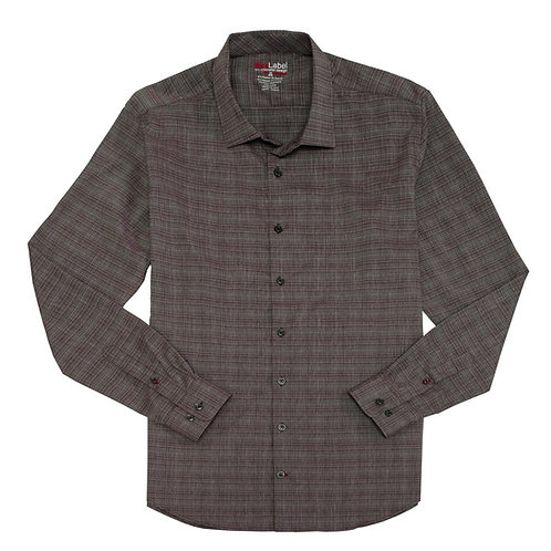 Men's Voyage Fitted Performance Stretch Heather Effect Shirt