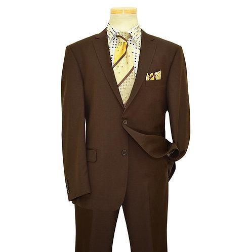 Solid Brown Suit Seperate 100% Wool