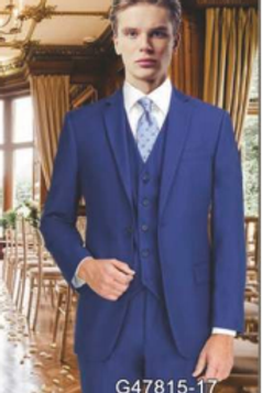 French Blue Suit Seperate Poly-Rayon