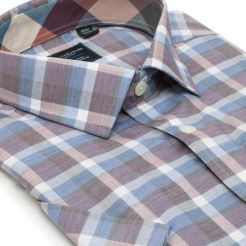 100% Cotton Non Iron Spread Collar Short Sleeve Sport Shirt