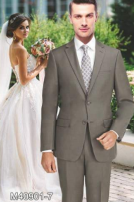 Solid Taupe Suit Seperate 100% Wool