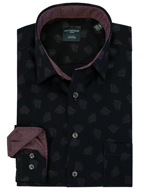100% Cotton Non Iron Spread Collar Sport Shirt