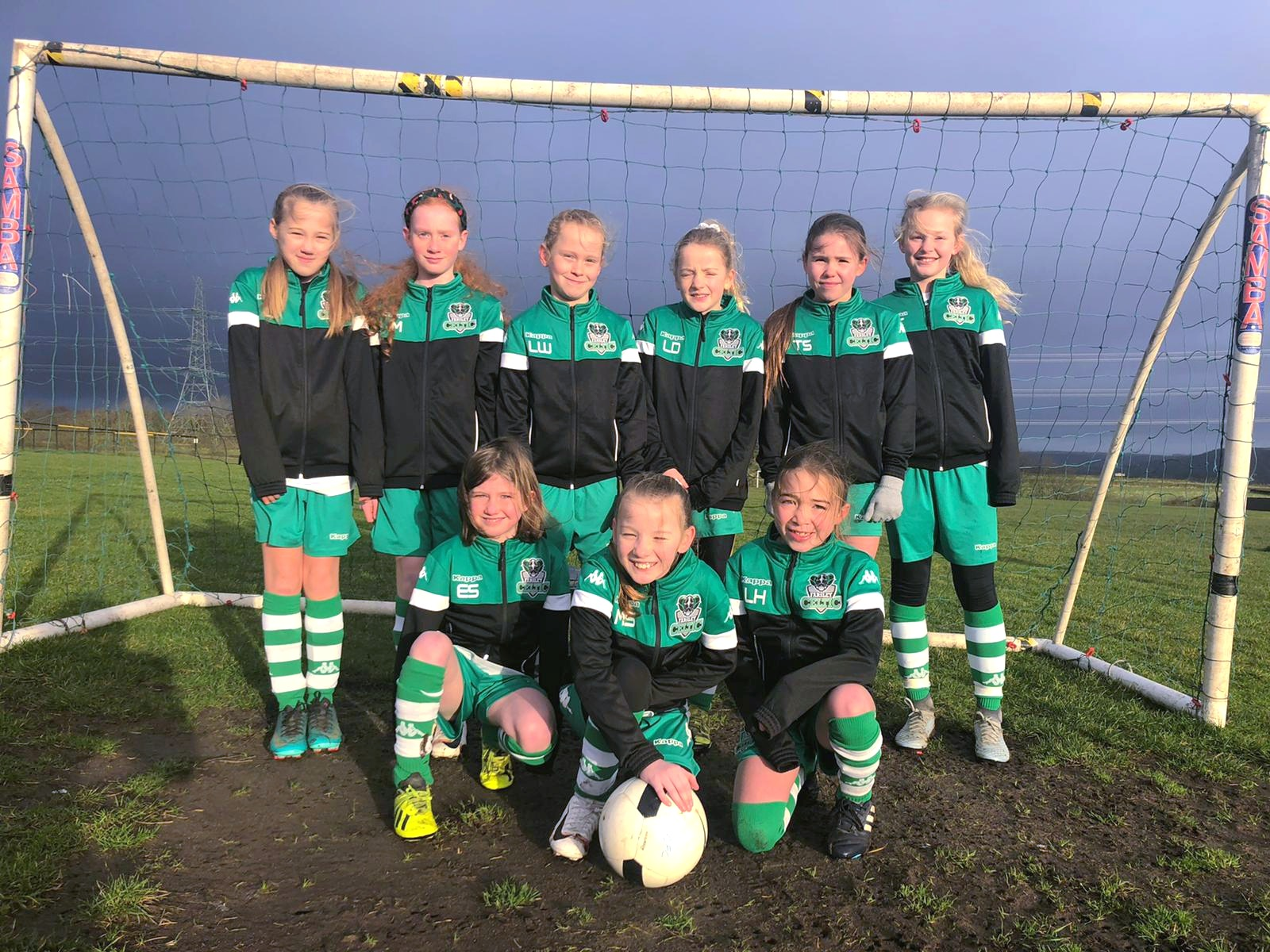 Junior girls football team photo