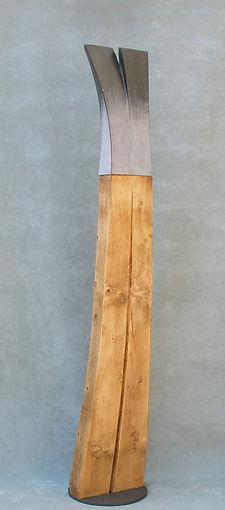 Limits 6  Mármol de calatorao, madera y hierro I 140 x 25 x 2 5 cm