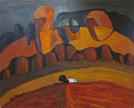 Sin nombre  Óleo sobre tela I 61 x 81 cm