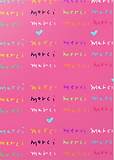 cute pink merci pattern thank you cards by Ashley Rice