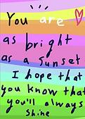 you'll always shine greeting card by Ashley Rice
