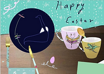 easter tea greeting card by Ashley Rice