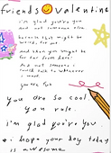 a friendship poem on a cute valentine for a friend by Ashley Rice