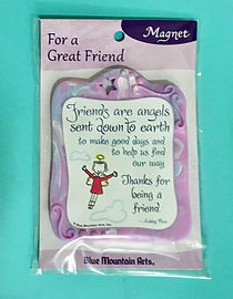 friends are angels sculpted resin magnet by Ashley Rice