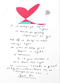 giant or tiny mountains poem about changing your life on greeting card by Ashley Rice