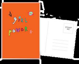 ornge girl powe postcard by Ashley Rice