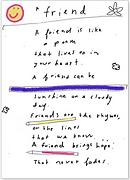 friend poem greeting card by Ashley Rice