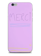 Merci lavendar phone case by Ashley Rice