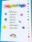 Cute happy birthday poem on a greeting card by Ashley Rice