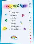 Cute happy birthday poem on a greeting card by Ashley Rice