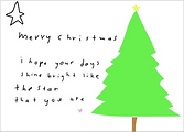 merry christmas I hope your days shine bright like the star that you are holiday greeting card by Ashley Rice