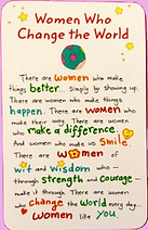 women who chang the world wallet card by Ashley Rice published by Blue Mountain Arts
