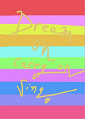 dream on greeting card by Ashley Rice