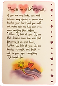 once in a lifetime love wallet card by Ashley Rice published by blue mountain arts
