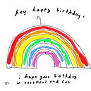 a birthday rainbbow ecard you can text or email by Ashley Rice