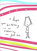 amazing birthday greeting card by Ashley Rice