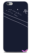 and everywhere a million stars navy and white phone case by Ashley Rice