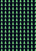 cute repeating pattern of handdrawn fir tree Christmas trees on navy bacgorund holiday stationery by Ashley Rice
