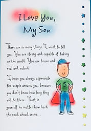 I Love you my son greeting card by Ashley Rice published by Blue Mountain Arts