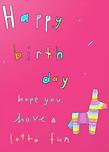 piñata birthday card by Ashley Rice