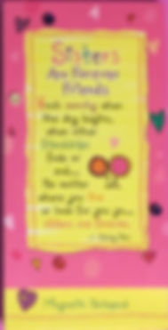 Sisters are forever friends magnetic notepad by Ashley Rice published by Blue Mountain Arts