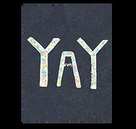 yay cute congratulations greeting card by Ashley Rice