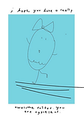cute drawing of a dancng easter egg that says you're egcellent happy easter greeting card by Ashley Rice