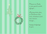 a hliday poem christmas greeting card by Ashley Rice