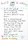 birthday poem greeting card by Ashley Rice