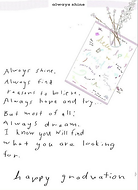 ALways shine graduation poem on printable digital download greeting card by Ashley Rice