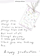 ALways shine graduation poem on printable digital download greeting card by Ashley Rice
