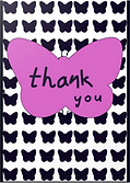 butterfly thank you card by Ashley Rice