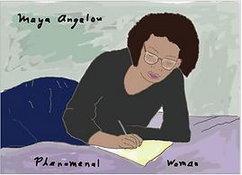 Maya Angelou phonemenal woman art print by Ashley Rice
