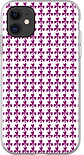maroon shamrocks cute pattered phone case by Ashley Rice