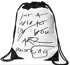 drawstring bag by Ashley Rice
