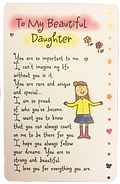 to my beautiful daughter wallet card by Ashley Ricepublished by blue mountain arts