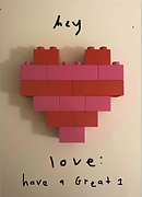 hey love greeting card by Ashley Rice