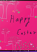 easter trees greeting card by Ashley Rice