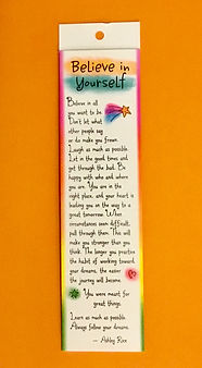 believe in yourself bookmark by Ashley Rice published by blue mountain arts