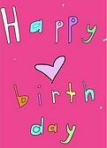 happy birthday confetti greeting card by Ashley Rice