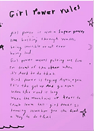 girl power is not a superpower poem on greeting card by Ashley Rice